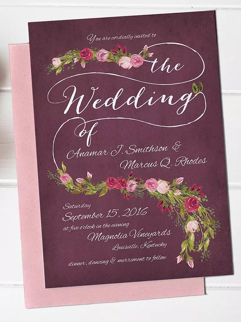 16 Printable Wedding Invitation Templates You Can DIY