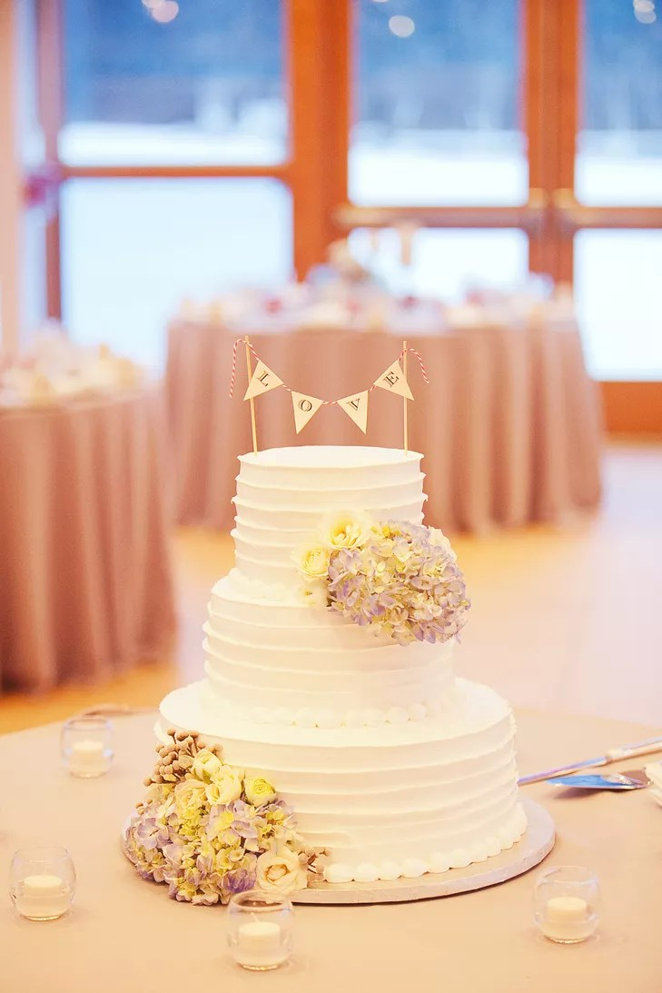 Simple ThreeTier Wedding Cake