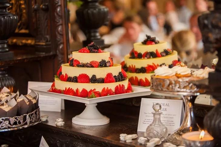 Tiered Cheesecake Wedding Cake
