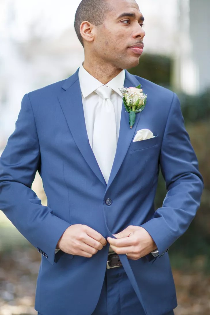 Blue Suit Teal Tie
