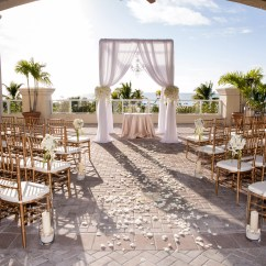 Chiavari Chairs Wedding Ceremony World Market Chair Cushions White Flower Petal And Candle Aisle Decor
