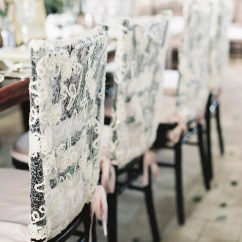 Chiavari Chair Covers For Weddings White Wood Dining Lace With Pink Ribbon