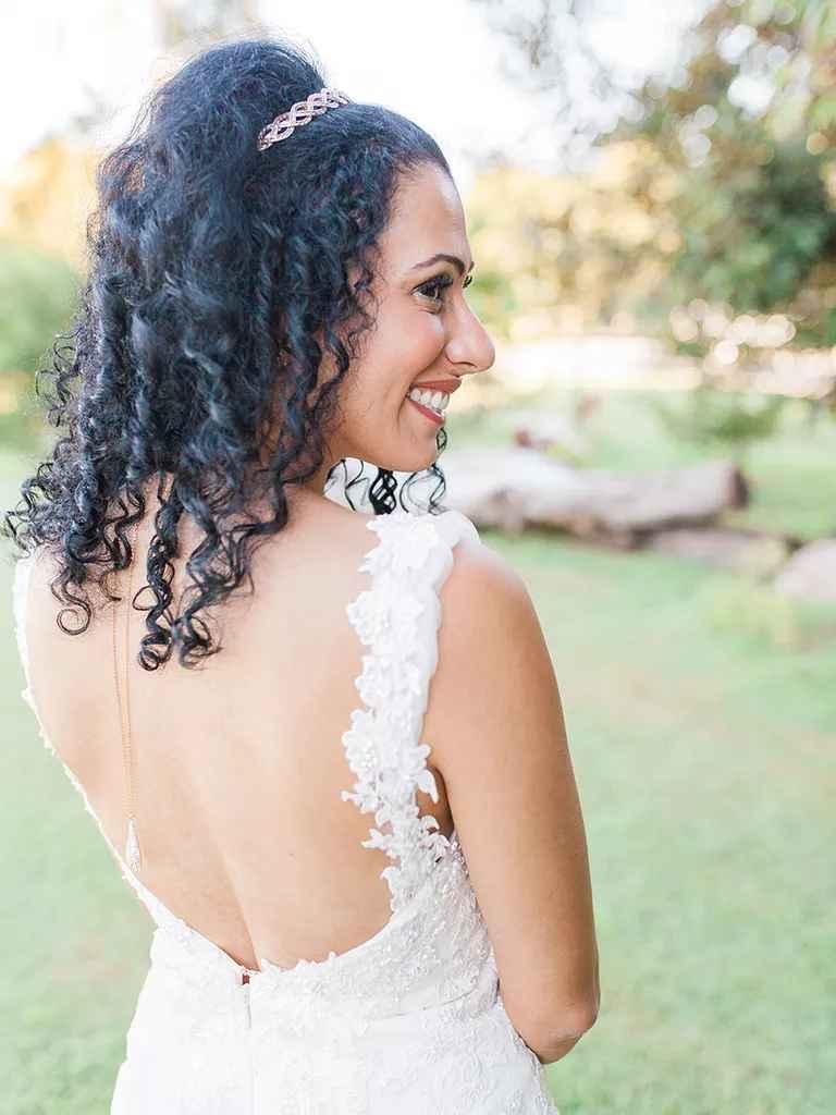 Naturally Curly Wedding Hair