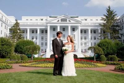 Bride and Groom Greenbrier Wedding