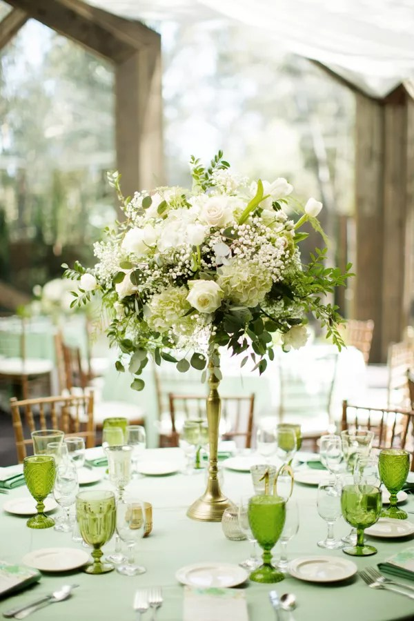 GardenFresh Green and White Flower Centerpieces