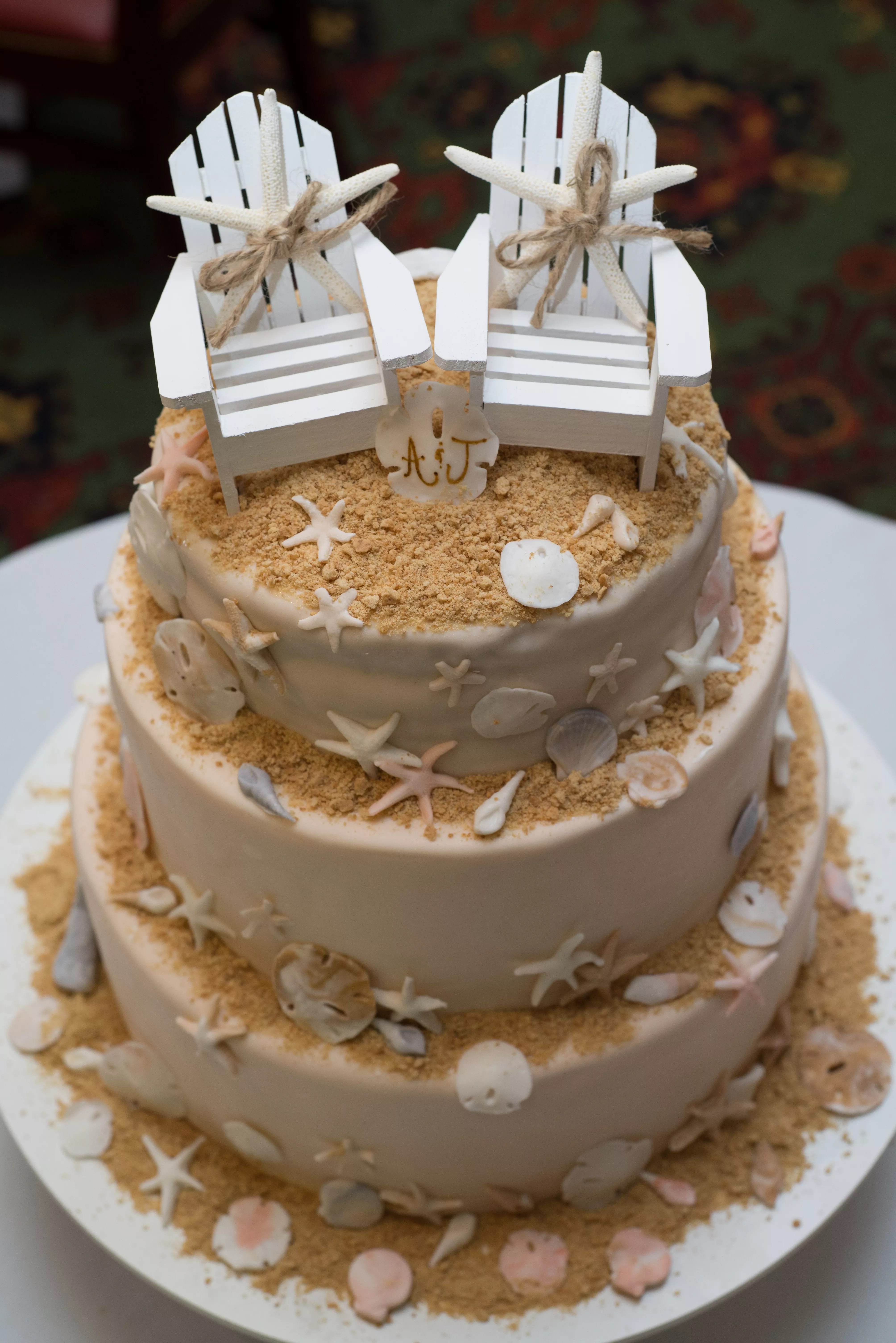 beach wedding chair decoration ideas plastic outdoor chairs lowes and sand cake