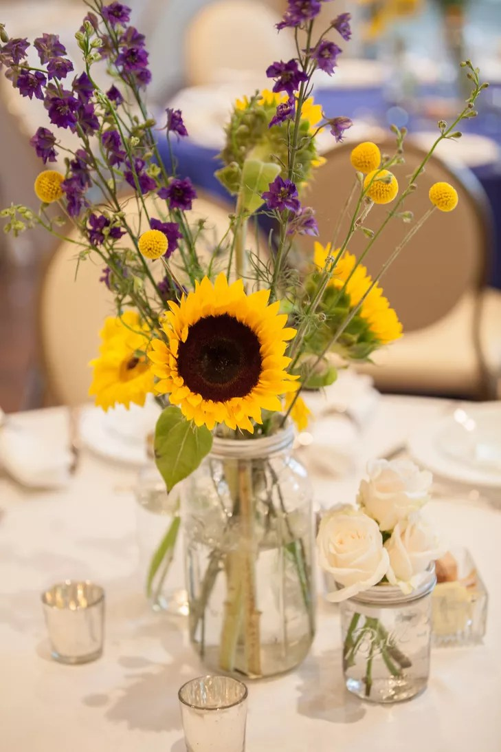 Sunflower and Yellow Daisy Centerpieces