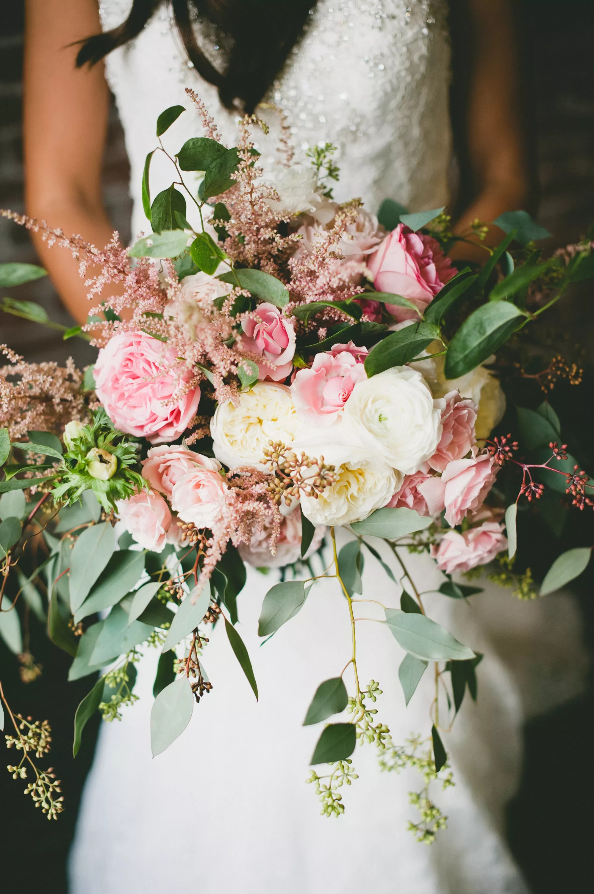Pink and White Romantic Bouquet