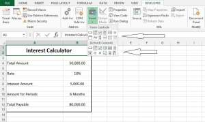 Group Box and option button excel form controls