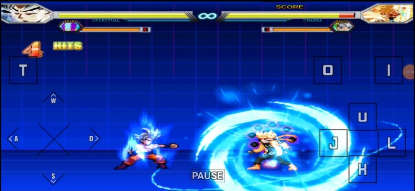 Goku Ultra Instinct Vs Naruto bijuu Anime Battles game