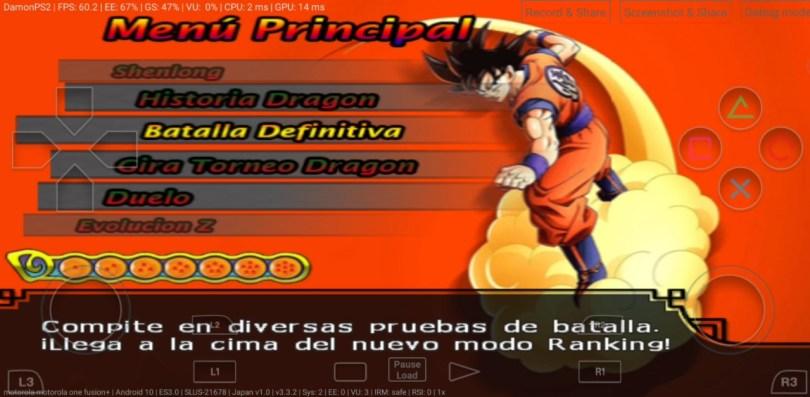 Dragon Ball Z Kakarot Mod PS2 ISO Download