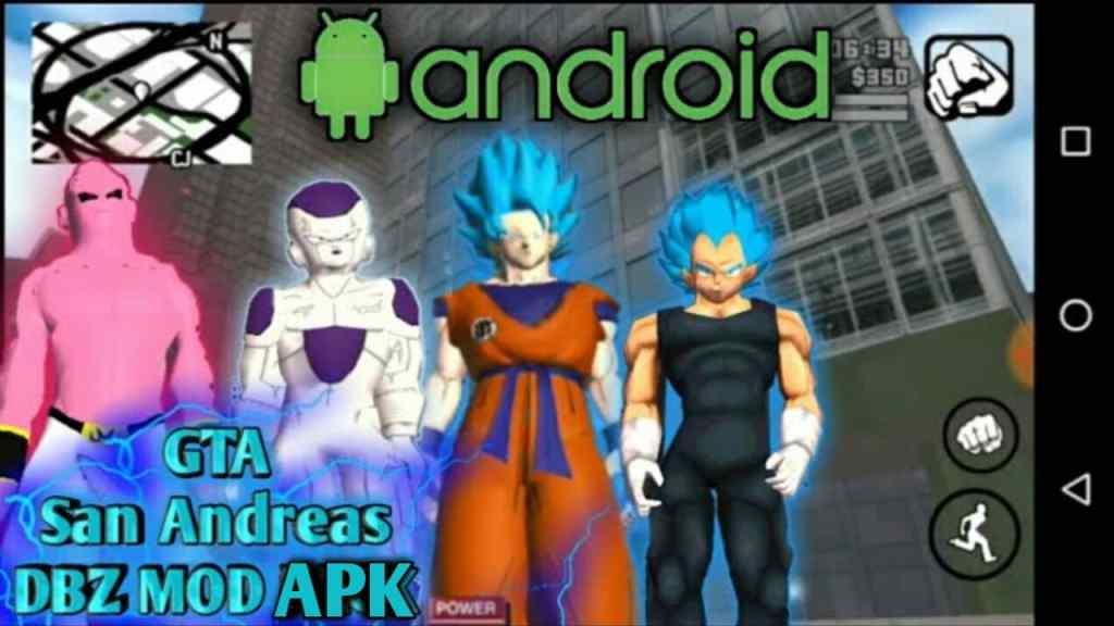 GTA San Andreas Dragon Ball Z Mod Goku Apk Download