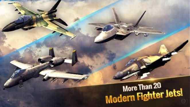 Modern Fighter Jets in Ace Fighter Mod Apk