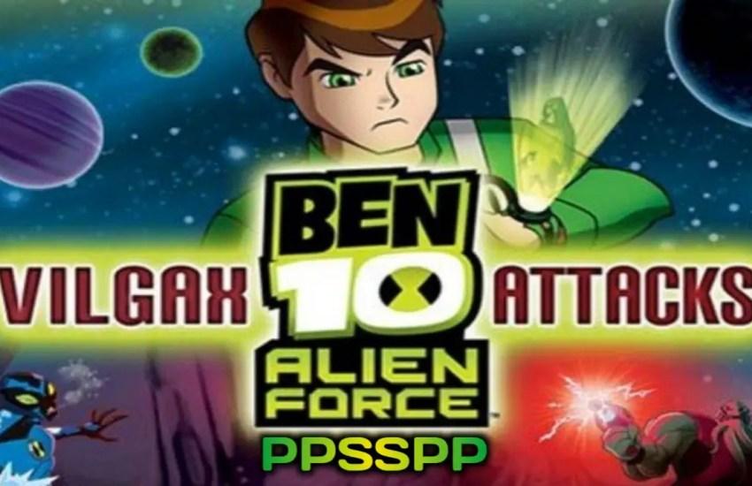 Ben 10 Alien Force Vilgax Attacks PSP Game Download