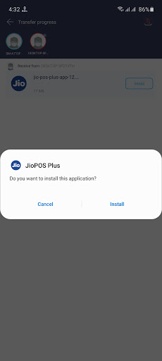 Screenshot of Jio Pos Plus