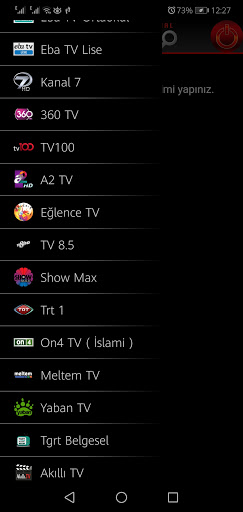 Screenshot of CEP TV App