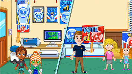 Screenshot of My City Election Day Game