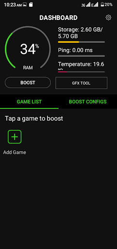 Screenshot of Game Booster 4x Faster Pro App