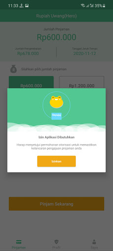 Screenshot of Rupiah Uwang