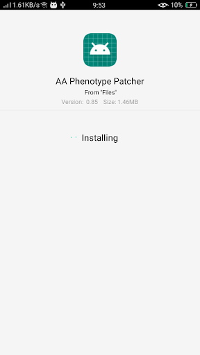 Screenshot of AA Phenotype Patcher App