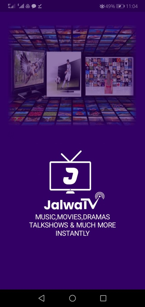 Screenshot of Jalwa TV