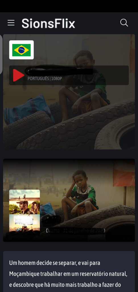 Screenshot of SionsFlix Android