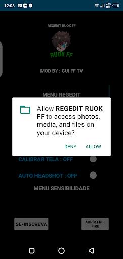 Screenshot of REGEDIT Macro FF