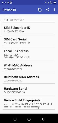 Screenshot of Device ID Free Fire