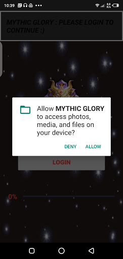 Screenshot of Mythic Glory App