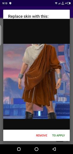 Screenshot of Skins for FF App