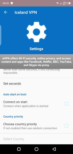 Screenshot of Iceland VPN Apk