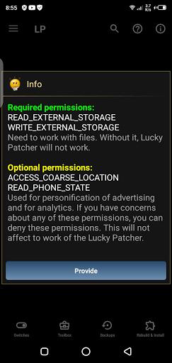 Screenshot of LP Installer Android