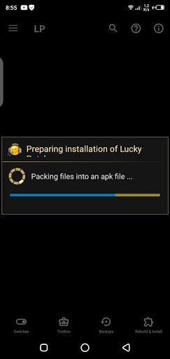 Screenshot of LP Installer App