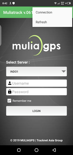 Screenshot of Muliatrack