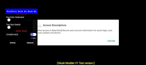 Screenshot of Musk Mod FF
