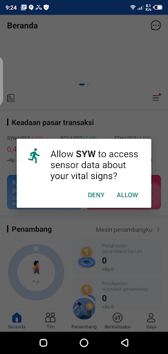 Screenshot of SYW Android