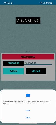 Screenshot of V Gaming App