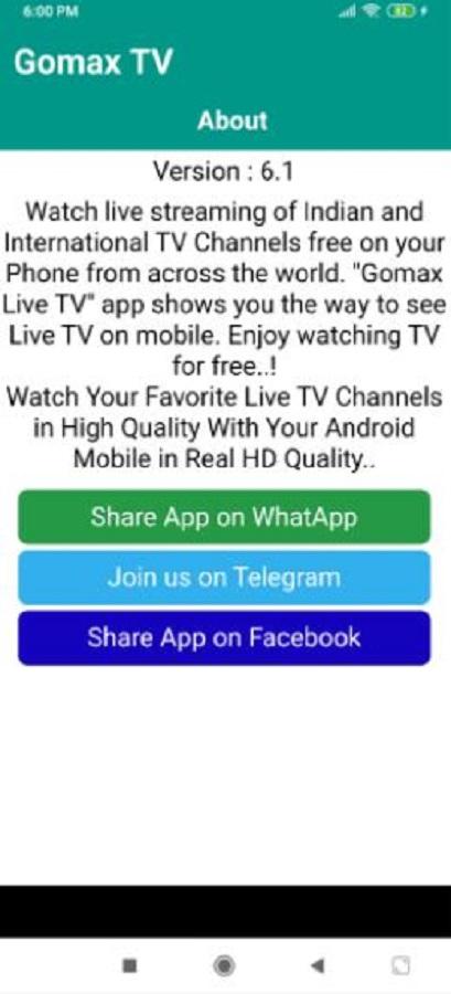 Screenshot of Gomax Live 2021