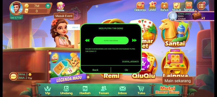 Screenshot of Higgs Domino Mod Speeder Apk