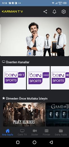 Screenshot of Karman TV Android