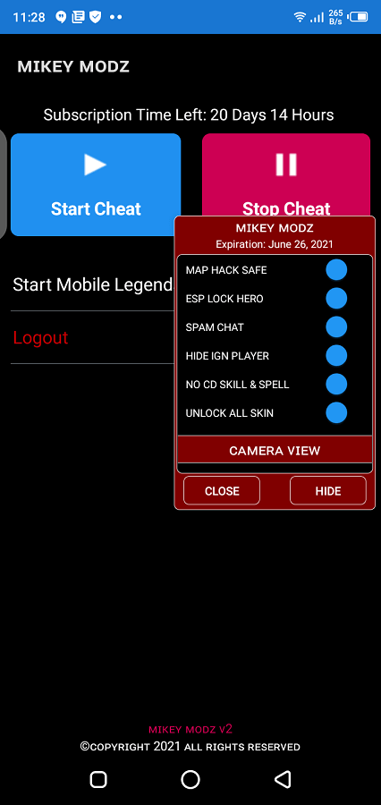Screenshot of Mikey Modz ML Android