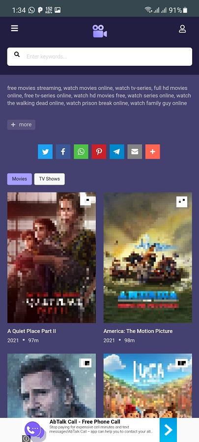 Screenshot of Moviesjoy Apk