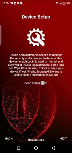 Screenshot of Alliance Shield X App