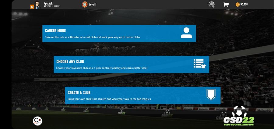 Screenshot of Club Soccer Director 2022 Apk