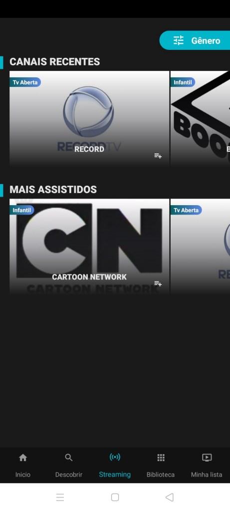Screenshot of Cine Tela Movies