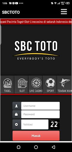 Screenshot of SBC Toto