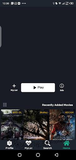 Screenshot of Time Movies App