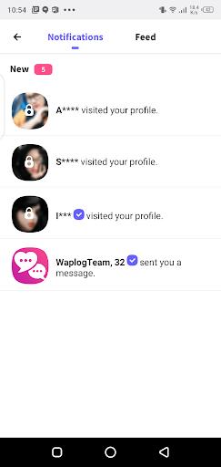 Screenshot of Waplog App
