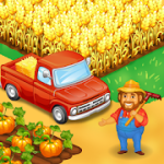Farm Town Happy farming Day & food farm game City v3.24 Mod (Unlimited diamonds and gold) Apk