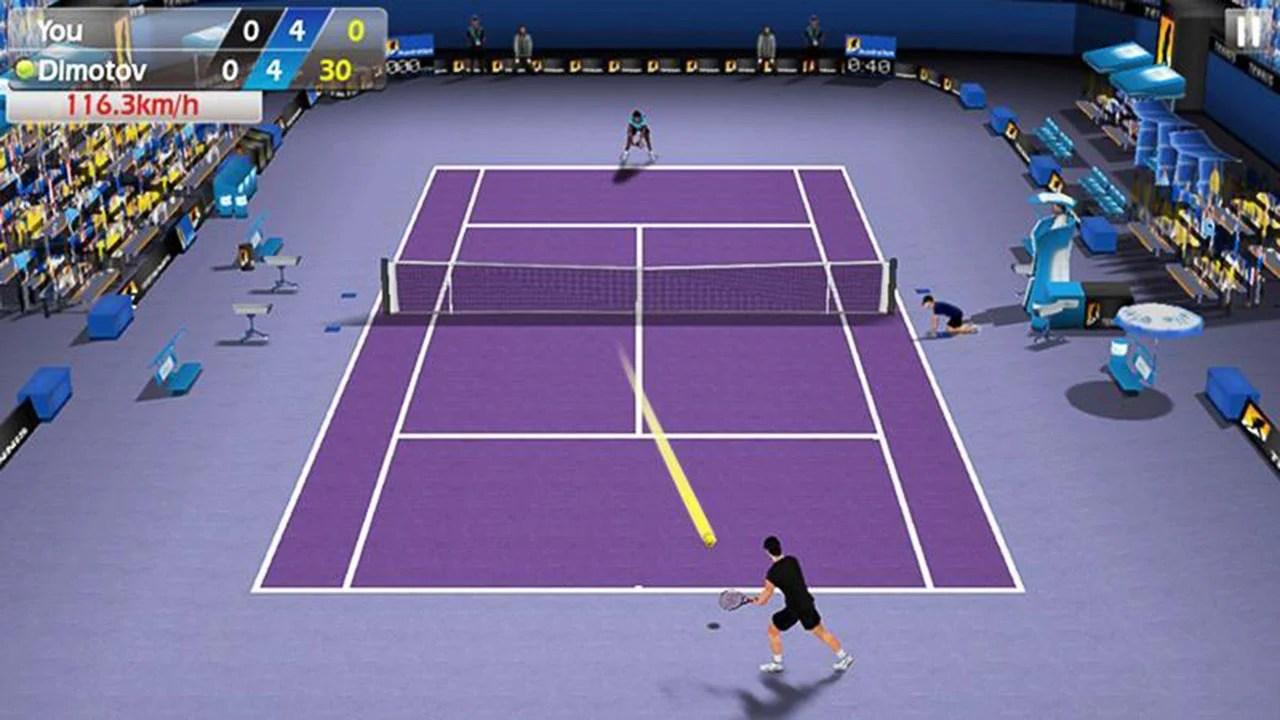 3D tennis screen 3